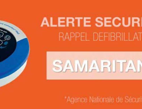 Avis de sécurité défibrillateurs Heartsine Samaritan Pad