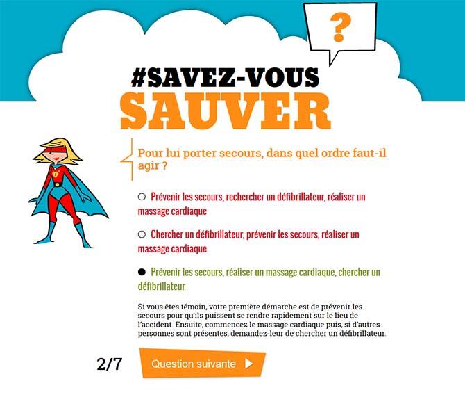 Fédération Française de Cardiologie : Savez vous Sauver ?