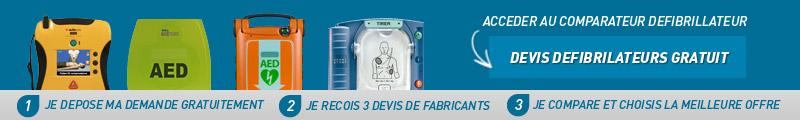 comparateur défibrillateur