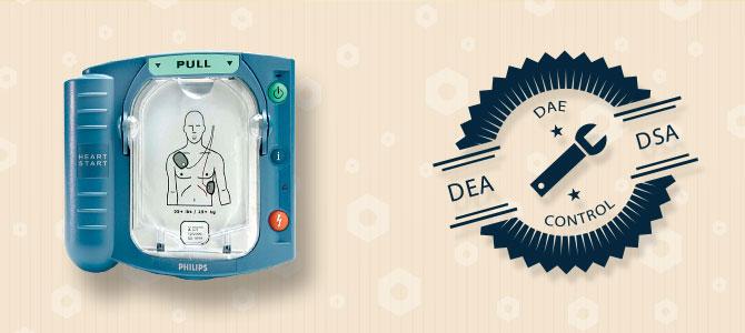 Maintenance défibrillateurs HeartStart HS1